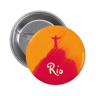 Corcovado rojo el Río-Brasil
