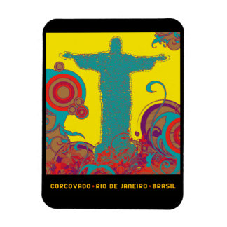 Corcovado tropical style magnet