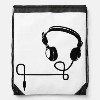 Cord rucksack - HeadPhones Drawstring Bag