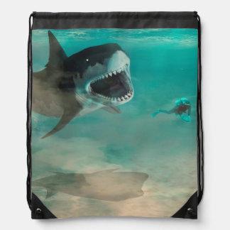 Cord rucksack under the sea drawstring bag