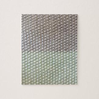 Cord texture mint grey by SIRAdesign Vienna 2015 Jigsaw Puzzle