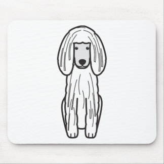 Corded Poodle Dog Cartoon Mouse Pad