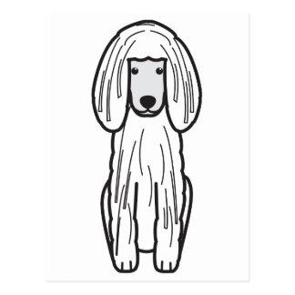 Corded Poodle Dog Cartoon Postcard