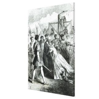 Cordelero de Margaret que toma licencia de su padr Lona Envuelta Para Galerias