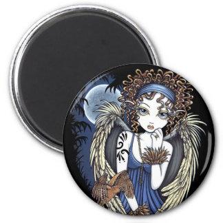 Cordelia Gothic Moon Oil Bird Angel Art Magnet