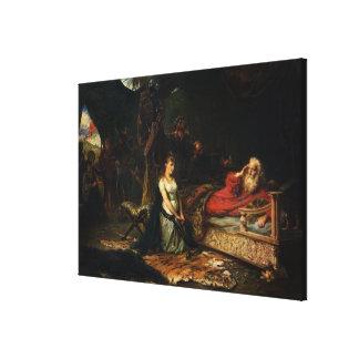 Cordelia y rey Lear (aceite en lona) Impresión En Lona