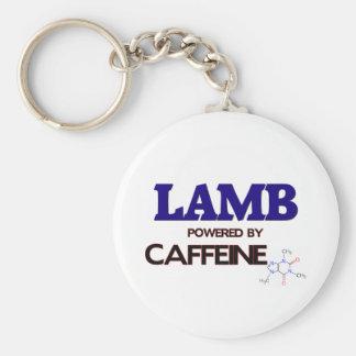Cordero accionado por el cafeína llaveros personalizados