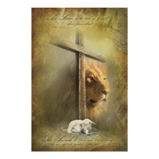 CORDERO de DIOS - posters religiosos cristianos Póster