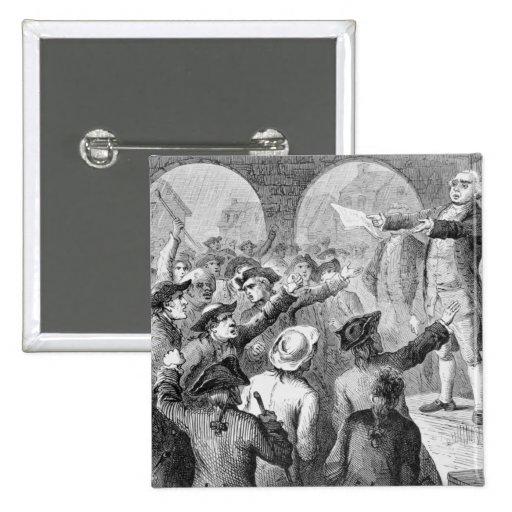 Cordero de Juan que habla en los hijos de la reuni Pin Cuadrada 5 Cm