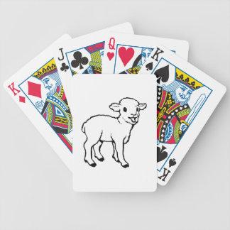 Cordero del bebé baraja cartas de poker