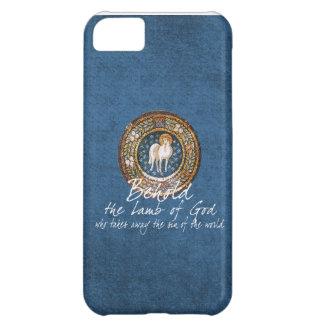 Cordero del icono cristiano bizantino de dios en funda para iPhone 5C