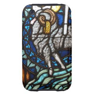 Cordero del vitral iPhone 3 tough carcasa