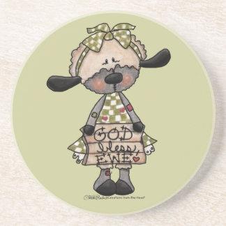 Cordero-Dios primitivo bendice la oveja Posavasos Personalizados