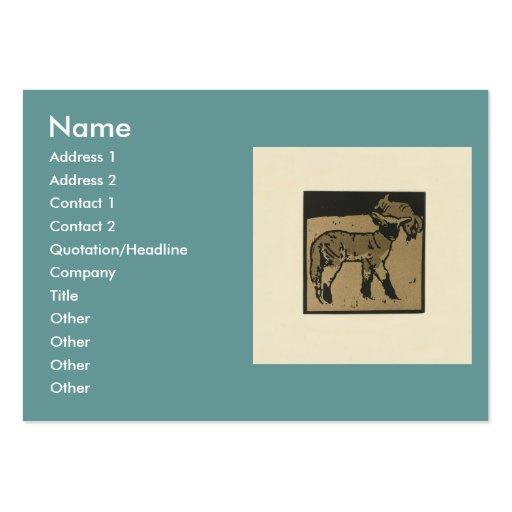 Cordero - ejemplo cuadrado de los animales tarjetas de visita grandes