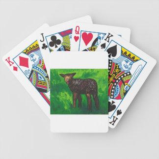 Cordero feliz cartas de juego