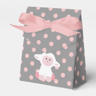 Cordero lindo del bebé y chica rosado de los cajas para regalos