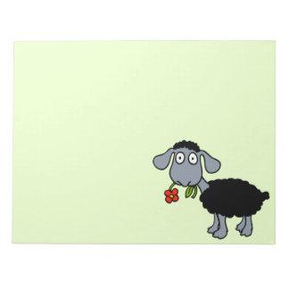 Cordero lindo del dibujo animado de las ovejas bloc de papel