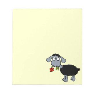 Cordero lindo del dibujo animado de las ovejas blocs de papel