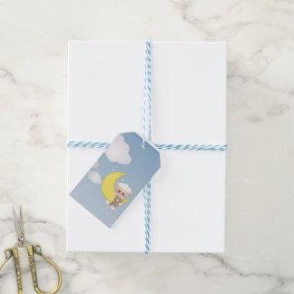Cordero, luna y nubes del bebé etiquetas para regalos