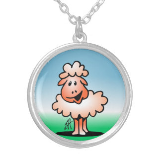 Cordero - oveja colgante redondo