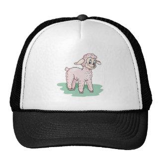 cordero rosado lindo gorra