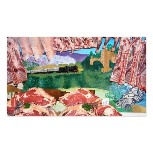 cordero y carne de vaca tarjetas de visita