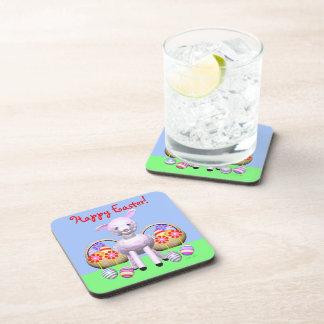 Cordero y cestas lindos de Pascua Posavasos De Bebida