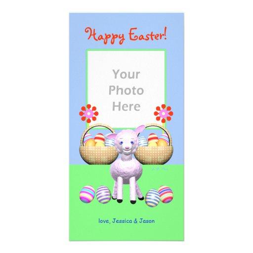 Cordero y huevos de Pascua Tarjeta Personal