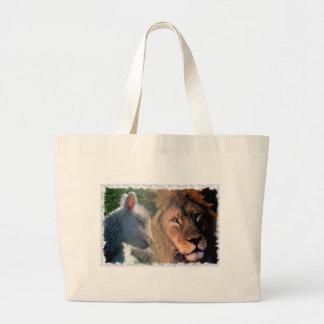 Cordero y león bolsa tela grande
