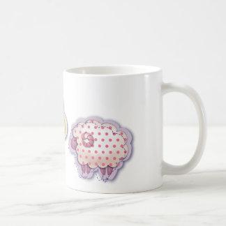 Corderos acolchados tazas de café