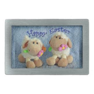 Corderos felices de Pascua Hebilla Cinturon Rectangular