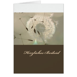 Cordial condolence greeting card