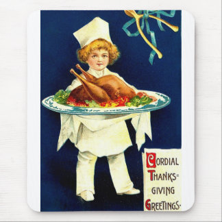 Cordial Thanksgiving Greetings Mouse Pad