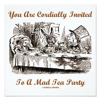 Cordialmente le invitan a una fiesta del té invitación 13,3 cm x 13,3cm