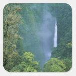 Cordillera Central, Angel Congo) Falls, many Square Sticker