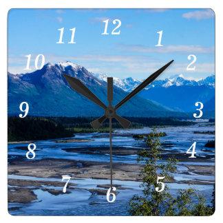 Cordillera de Denali Reloj Cuadrado