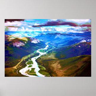 Cordillera de los arroyos, Alaska ártica Póster