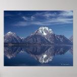 Cordillera magnífica de Teton Poster