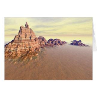 Cordillera magnífica tarjeta de felicitación