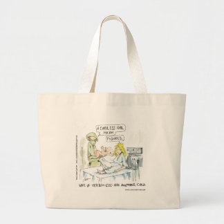 Cordless Baby Funny Cards Tees Mugs & Gifts Large Tote Bag