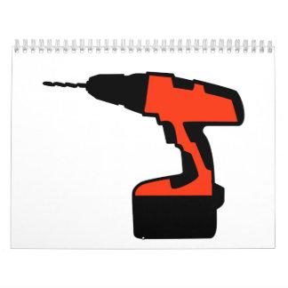 Cordless portable screwdriver calendar