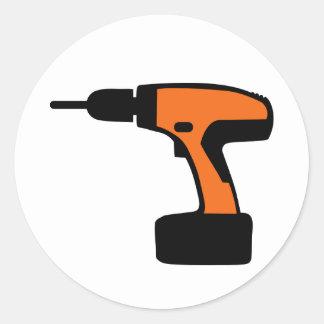 Cordless portable screwdriver drill stickers