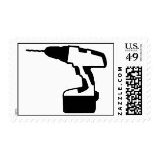 Cordless portable screwdriver stamp