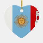 Cordoba, Argentina flag Christmas Ornaments