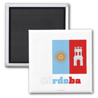 Córdoba flag with name fridge magnets