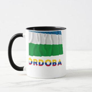 Córdoba Waving Flag with Name Mug