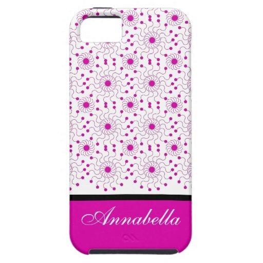 CORDÓN 222 #1 ROSADO DE LA MODA IPHONE5 CASE_LADY iPhone 5 COBERTURA