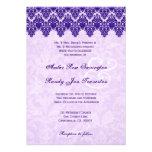 Cordón adornado púrpura V02 del damasco Anuncios Personalizados