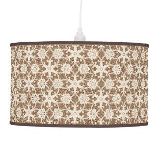 Cordón antiguo - crema y marrón lámpara de techo