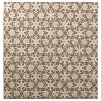 Cordón antiguo - crema y marrón servilleta
